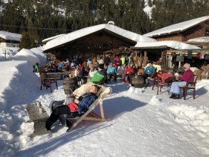 Mittagspause Langlauftour Seefeld Leutasch