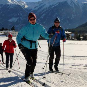 langlaufen winterurlaub Wohlfühlpension Alpenhof Obsteig - Sonnenplateau Mieming
