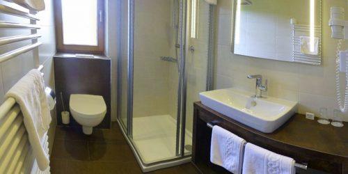 Badezimmer Wohlfühlpension Alpenhof Obsteig - Sonnenplateau Mieming